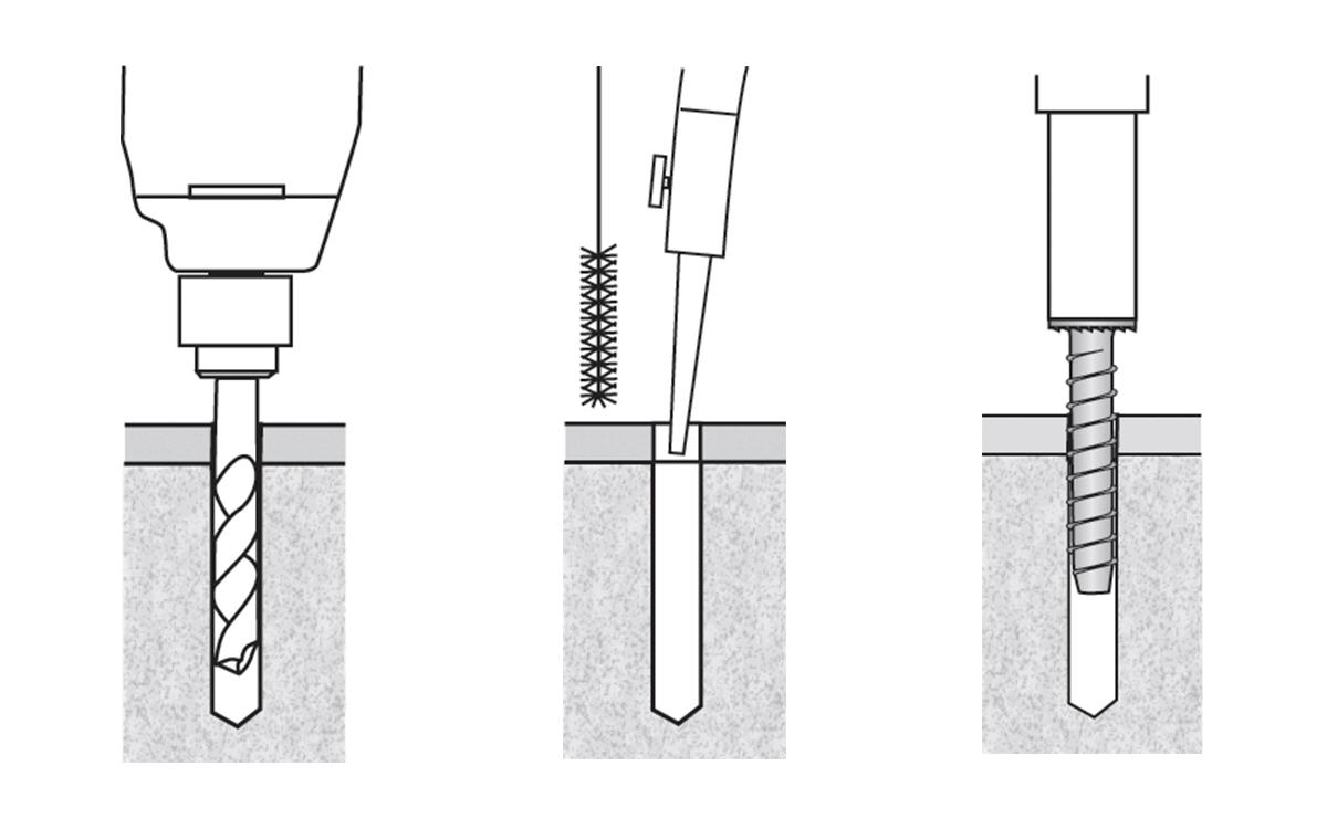 power skru installation