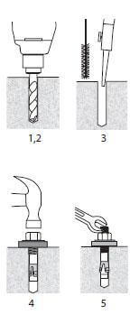 ankr tite wedge anchor installation instructions